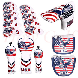 240a61d46c0 Hybrid Golf Head Covers Australia - Golf USA eagle and Stripes Head Cover  for putter cover