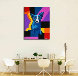 $enCountryForm.capitalKeyWord Australia - Wholesale Blue Dog High Quality Handpainted &HD Print Modern Abstract Animal Wall Art Oil Painting On Canvas Home Decor Multi sizes Option 5