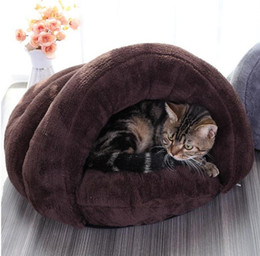 $enCountryForm.capitalKeyWord Australia - Cat house round pet bed Soft warm autumn Winter Warmer Basket for cats Sleeping Cushion for puppy pet mat nest small dogs