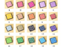 Scrapbooking ink padS online shopping - 20pcs colors DIY Scrapbooking Vintage Crafts Ink pad Colorful Inkpad Stamps Sealing Decoration Stamp