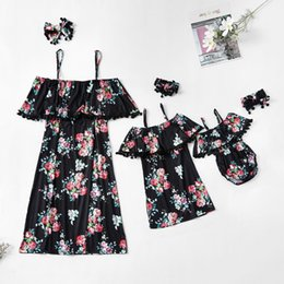 $enCountryForm.capitalKeyWord Australia - tank ruffled mother mom daughter dresses flower mommy and me clothes mum mama and baby girls dress family matching outfits look