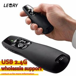 wireless presenter remotes Australia - control knob New Arrival Portable Comfortable Handheld R400 Remote Control Wireless Presenter Receiver Pointer Case with Red Laser Pen Black