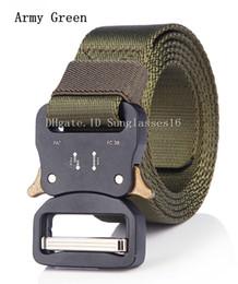 $enCountryForm.capitalKeyWord Australia - 49 In Men Belt Mens Designer Belts Ceinture Army Green Tactical Quick Release Automatic Nylon Buckle Zinc Alloy Outdoor Sports Waist Strap