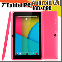 epad tablets UK - 848 7 inch Capacitive Allwinner A33 Quad Core Android 5.1 dual camera Tablet PC Upgrade 8GB 1GB WiFi EPAD Youtube Facebook Google A-7PB