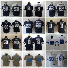 0e3c53cdc16 Youth Dez Bryant Jerseys 88 Dallas Cowboys Football 11 Cole Beasley 22  Emmitt Smith 8 Troy Aikman 97 Taco Charlton 50 Sean Lee