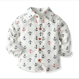 best printed shirts Australia - A new best-selling cross-border children's cartoon printing long sleeve shirt for boys big baby spring and autumn pure cotton shirt cardig