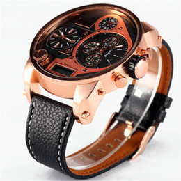 $enCountryForm.capitalKeyWord Australia - OULM Brand Watches Mens Leather Band Quality Japan Movt Large Quartz Wrist Watch Big Face Analog Clock relogio masculino