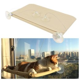 pads suction cups UK - Comfortable Cat Window Hammock With Suction Cup Kitten Cat Hanging Bed Shelf Seat Sunny Warm Bed House For Cat Pet Supplies Y200330