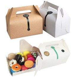 $enCountryForm.capitalKeyWord Australia - Kraft Cake Paper Box With 16.2*9.2*9.5cm Handle Wedding Party Favour Packing Boxes Good For Handmade Gift, Food, Soap, Muffin, Cookie