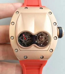 $enCountryForm.capitalKeyWord Australia - Top Grade Luxury Design Oversize Men Dress Wristwatch Rose Gold Screws Stainless Automatic Tourbillon Red Rubber Casual Mens Antique Watches