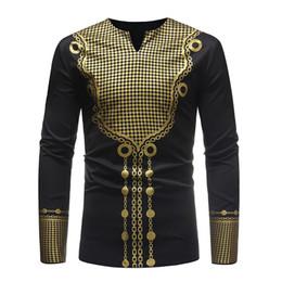 $enCountryForm.capitalKeyWord Australia - Fashion African Style Printed Men's Top Casual Long Sleeve Male T-shirt Africa Dashiki Dress Clothing Long Sleeve Tshirt for Men