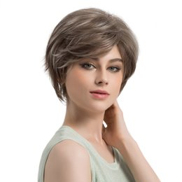 China Women's Fashion Natural Wig Light Straight Short Hair Wigs Short High Density Temperature Synthetic Wig For Black   White Women cheap high fashion wigs for black women suppliers