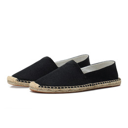51694919d Mens Slip On Casual Shoes Espadrilles Male Canvas Loafers Lightweight  Walking Driving Shoes Breathable Straw Loafer KS06