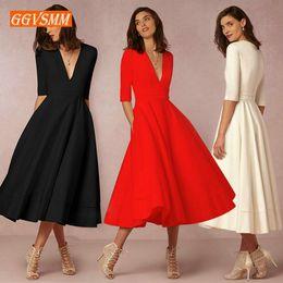 $enCountryForm.capitalKeyWord Canada - Stylish Boho Evening Dresses Long Party 2019 Bohemian Evening Gown V-neck Tea-length Stretch Fabric Women Banquet Formal Dress Y190525