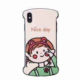 $enCountryForm.capitalKeyWord UK - Suitable For XS Max Mobile Phone Case iphone6S 7 8plus Silicone anti-fall Soft Cover Creative Cute Frosted Mobile Phone Shell