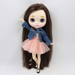 Custom Plastic Figures Australia - ICY factory blyth doll 1 6 BJD neo 30cm matte faceplate blyth custom joint body with hands AB special offer on sale