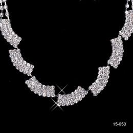 $enCountryForm.capitalKeyWord NZ - 2019 New Jewelry Necklace Earring Set Cheap Wedding Bridal Prom Cocktail Evening Dresses Rhinestone In Stock Free Shipping 15050