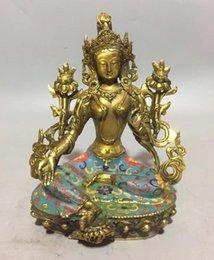 Recolha de bronze cloisonne Bodhisattva estátua de Buda venda por atacado