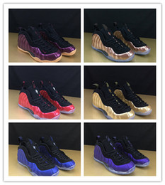 Discount basketball popular sneakers running shoes - 2019 New ! Mens Penny Hardaway Foams Eggplant Sport Basketball Shoes Fashion Mens Foam 1 Popular Many Colors Trainers Sn