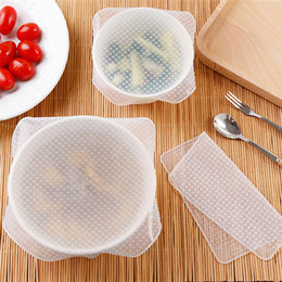 kitchen wrap Australia - Silicone Transparent Cover Fresh Keeping Wrap Refrigerator Food Fruit Sealing Film Cover Bowl Cover Kitchen Tools yq00357