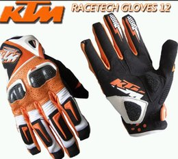 Summer Motorcycle Leather Gloves Australia - Wholesale summer breathable leather racing off-road gloves riding gloves motorcycle full-finger gloves cycling anti-fall gloves windproof