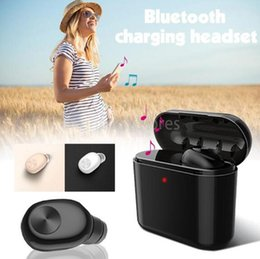 small bluetooth wireless earbuds UK - E Wireless Hot Stereo Bluetooth Earphone Bl1 Single With Charging Box Top Quality Invisible Mini Earbuds Small Headset Drop Shipping