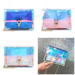 Laser Kette Tasche Einzelne Schulter Frauen Gelee Wrap Kette Paket Mode Beliebte Polyester Faser Material Die Neue 7ls C1