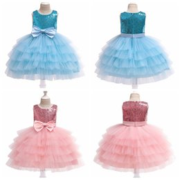 $enCountryForm.capitalKeyWord Australia - Children sequined tutu skirts with big bow baby girls cake layer ball gown kids X'mas halloween party prom tutu dress wedding skirt