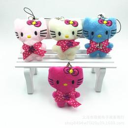 $enCountryForm.capitalKeyWord Australia - Mini 6CM Cartoon Hello Kitty Stuffed Animal Little KT Hello Kitty Toy Mobile Phone Pendant Toy