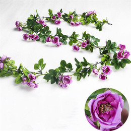 "$enCountryForm.capitalKeyWord Australia - Fake Rose Rattan 70.87"" Length Simulation Roses Flower Vine for Wedding Home Decorative Artificial Flower Vines"