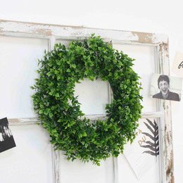 Chinese  Wall Hanging Plant Pendant Simulation Plants Wreath Artificial Flower Wreath DIY Wedding Decoration Wreaths Picture Decor Props BH0912 TQQ manufacturers