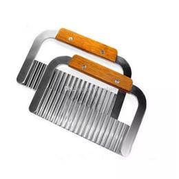 $enCountryForm.capitalKeyWord Australia - Hardwood Handle Stainless Steel Crinkle Wax Vegetable Potato Soap Cutter Wavy Slicer Chopper Free Shipping aa885-892 2017122301