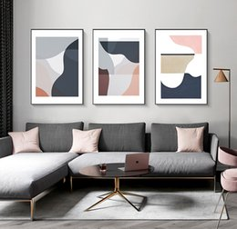 gallery canvas prints Australia - Modern Abstract Multi Color Sicandinavia Wall Art Canvas Painting Prints Posters Gallery Picture Living Room Interior Home Decor