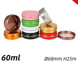 metal spice jars Australia - 60ml 60g Aluminum Tin Jars Cosmetic Sample Metal Tins Empty Container Bulk Round Pot Screw Cap Lid Small Ounce