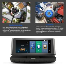 Wholesale 8 inch Touch Auto Car DVR G Android WIFI GPS Video Recorder Dual Lens HD Dash Cam Support Micro SIM TF Card