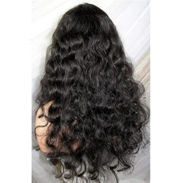 $enCountryForm.capitalKeyWord Australia - New arrival best unprocessed top remy virgin human hair big curly long natural color full front lace wig for women