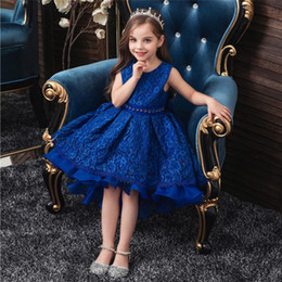 kids carnival clothing Australia - Anime Kid Girl Princess sleeveless Dress Lace Wedding Birthday Party Dress Halloween Pageant Children Clothing Kid Costumes