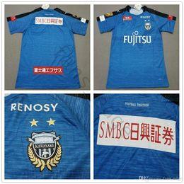 0e87e31a664 2019 J League Club Kawasaki Frontale Jerseys Junio Junior Jun Amano Edigar  Yu Kobayashi Damiao Customize Home Blue Soccer Football Shirt