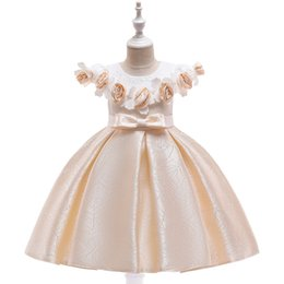 $enCountryForm.capitalKeyWord Australia - Girls Dress Kids Pageant Flower Princess Party Dresses Nail bead Embroider Costume Beauty dress Stage performance Rose 3Y 4Y 5Y 6Y 7Y 8Y 9Y