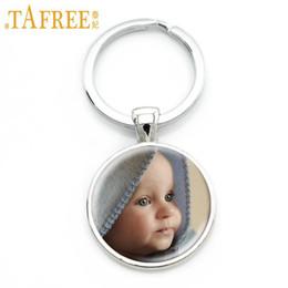 Baby Figures Australia - TAFREE Personalized Custom Key rings Photo Of Your Mum Dad Baby Children Grandpa Parents Custom designed Round Pendant Photo Jewelry NA01