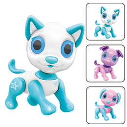 $enCountryForm.capitalKeyWord Australia - New Smart Robot Dog Electronic Walking Toys With Music Light Interactive Smart Puppy Dog LED Eyes Feeding Function Cute Toy