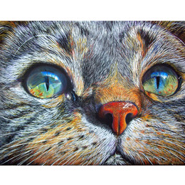 "Painting Faces Australia - Full Round drill 5D DIY Diamond Painting""Cat face""Diamond Embroidery Cross Stitch Rhinestone Mosaic Painting"