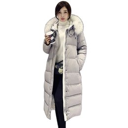 6043024fdf3 2019 neue Marke Frauen Mantel Lange Dame Winter Parkas Stil Jacken Faux  Pelzkragen Dicke Warme Kapuze Warme Oberbekleidung Lj0634