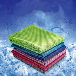 $enCountryForm.capitalKeyWord Australia - Sports Cool Towel 9 Colors Summer Sweat Absorbent Cool Towel Gym Shower Quick Drying Ice Silk Towel 2 Pieces ePacket