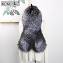 $enCountryForm.capitalKeyWord NZ - MS.MinShu Luxury Genuine Fox Fur Scarf Real Fox Skin Scarf Big Size Natural Fur Shawl Winter Women Stole Drop shipping