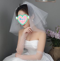 Headpiece Hair online shopping - Short wedding face white ivory tulle bride veil with comb vintage Cut Edge black headpieces travel cosplay halloween veils Hair accessories