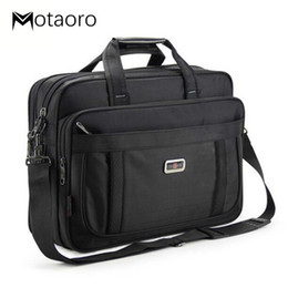 "black office bags Canada - Large Capacity Black Men's Briefcase Work Bag Men Shoulder Mens Office Bags For 15.6"" Laptop Handbag Business Men Messenger Bags"