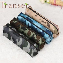 leopard pens Australia - Wholesale- Elegance 1pc 4 Colors Camouflage Pen Bag Pencil Case Pouch Stationery Cosmetic Cases ,makeup bag DEC7 Dropshipping