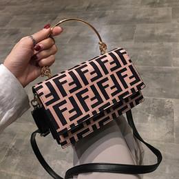 New treNdy ladies haNdbags online shopping - Women F Letters PU Handbag Fashion Protable One Shoulder Bag Trendy Messenger Bag Lady Zipper Tote Wallet Purse Travel Storage Bags New