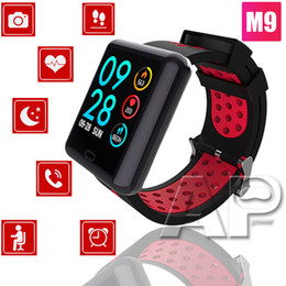 Rate pack online shopping - NEW M9 Smart Watch Sport IP68 Waterproof Blood Heart Rate Monitor Fitness Tracker Smart Bracelet polymer for IOS Android with packing